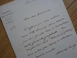 Achille FOULD (1800-1867) Ministre Finances NAPOLEON III. Député TARBES. Laloubère. Autographe - Autografi