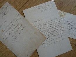 Edouard CADOL (1831-1898) Dramaturge & Romancier [ Jules Verne ]. 2 X AUTOGRAPHE - Autographes