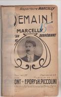 (GEO) DEMAIN , MARCELLY  ,musique F POPY Et PICCOLINI  , Paroles E DUMONT - Partitions Musicales Anciennes