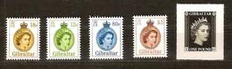 Gibraltar 2015 Micheln° 1681-1685 *** MNH Reine Elizabeth II Série Courante - Gibraltar