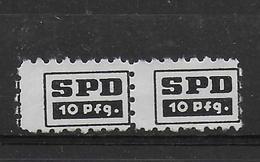 Deutschland Revenue Stempelmarke Gebührenmarke SPD Spendnemarke - [7] République Fédérale