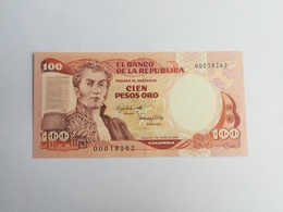 COLOMBIA 100 PESOS ORO 1983 - Colombie