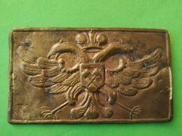 FIBBIA DA CINTURA BELT BUCKLE Minatori Russia - 1914-18