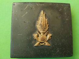 FIBBIA DA CINTURA BELT BUCKLE Italia Guardia Di Finanza - Militaria