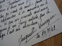Jacqueline LUCAZEAU (1917-1987) Artiste Lyrique SOPRANO. Opera Paris. AUTOGRAPHE - Autographes