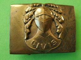 FIBBIA DA CINTURA BELT BUCKLE Italia Civis - Militari
