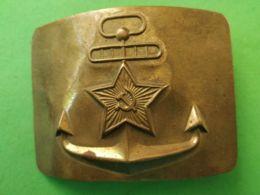 FIBBIA DA CINTURA BELT BUCKLE Russia Marina - 1939-45