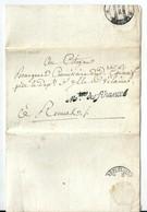 Lettre En Franchise De Paris / Ministre Des Finances ,  An 5 / 1796 - Postmark Collection (Covers)