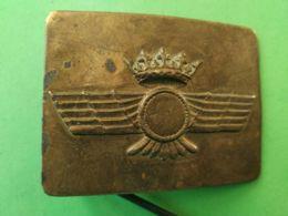 FIBBIA DA CINTURA BELT BUCKLE Era Franchista Aviazione Spagnola - 1939-45