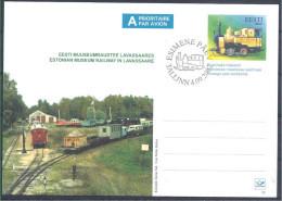 2002 ESTONIE Entier Postal Train - Estonie