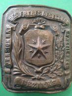 FIBBIA DA CINTURA BELT BUCKLE Francia Collegio Dei Christian Brothers Beziers - 1939-45