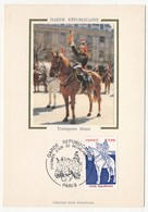 FRANCE - Carte Maximum (Soie)  - Garde Républicaine - Paris - 22 Novembre 1980 - 1980-89