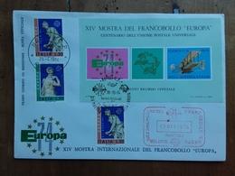 REPUBBLICA - Europa CEPT 1974 - Foglietto Ricordo Ufficiale + Spese Postali - 6. 1946-.. Repubblica