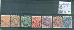 150-156 Obl Côte 63€ - 1918 Croix-Rouge