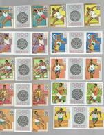 1967  BURUNDI 10 Valeurs Poste Et Avion  Olympique De Mexico  Tryptique Avec Vignette Centrale - Sommer 1968: Mexico