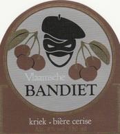 Etiket  Bandiet Kriek - Bière