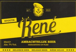 Etiket   Rene - Bière