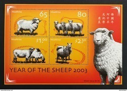 Niuafo'ou 2003** Bl.37. Year Of The Sheep [19;166] - Astrologie
