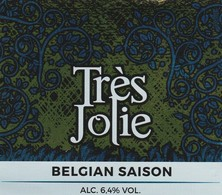 Etiket   Tres  Jolie - Bière