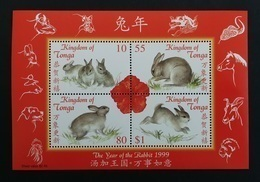 Tonga 1999** Bl.33. Year Of The Rabbit [19;182] - Astrologie