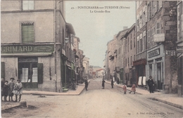 CPA PONTCHARRA SUR TURDINE La Grande Rue - Pontcharra-sur-Turdine