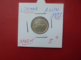 LITUANIE 1 LITAS 1925 ARGENT - Lituanie