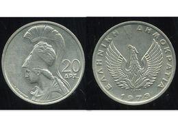GRECE 20 Drachmai 1973 - Grèce