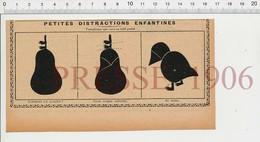 Presse 1906 Découpage Montage Papier Humour Fruit Poire Poulet Basse-cour 223V - Old Paper