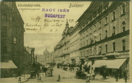 HUNGARY - BUDAPEST - ALKOTMANY-UTCA - EDIT GANZ ANTAL - STAMPS - 1900s ( BG1648) - Hungary