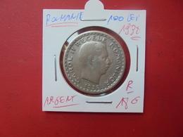 ROUMANIE 100 LEI 1932 ARGENT .PEU COURANTE - Roumanie