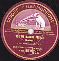 """78 Trs  30 Cm état EX -  SUR UN MARCHE PERSAN - DANS LE JARDIN D'UN MONASTERE - """"ORCHESTRE LUTÈCE"""" - 78 T - Disques Pour Gramophone"""