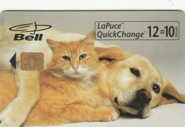 Telecarte  - BELL - CHIEN CHAT - Perros