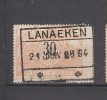 COB 19 Oblitéré LANAEKEN - Spoorwegen