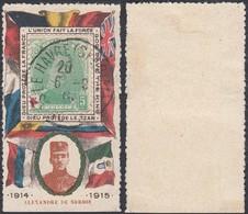 BELGIQUE 1915 COB 129 Sur Porte Timbre Propagande (DD) DC-0957 - 1914-1915 Croix-Rouge