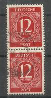 """Allierte Besetzungen Gemeinschaftsausgaben 919b Geprüft"""" Briefmarkenpaar A.Satz Der 1.Kontrollratsausg.""""gest. Mi.:7,00 - Zone AAS"""