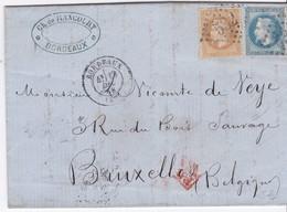 LSC - N°28 + 29 : BORDEAUX Pour BRUXELLES / 19 DEC. 68 - Marcophilie (Lettres)