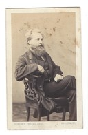 CDV HOMME PHOTO GERUZET  BRUXELLES FOTO MAN BRUSSEL - Oud (voor 1900)