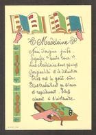 Belle Carte Fantaisie , Prénom MADELEINE , Son Origine - Prénoms