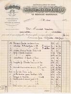 GIRONDE - LE BOUSCAT - SAINTE-MARIE Frères - Clouterie, Limes, Fers, Fontes, Ferronnerie - France