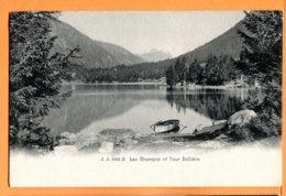 L101, Lac De Champex, Tour Sallière, Barque, J.J. 1083, Non Circulée - VS Valais