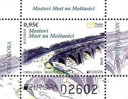 2018 EUROPA STAMPS, Bridges, Most Na Moštanici, Block, Montenegro, MNH - Montenegro