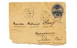 Seychelles - 1905 - Grand Fragment D'entier - CAD ANSE ROYALE Pour Nossi Bé (Madagascar) - (W1016) - Seychelles (...-1976)