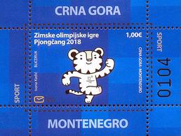2018 Winter Olympic Games, PyeongChang, South Korea, Montenegro, MNH - Montenegro
