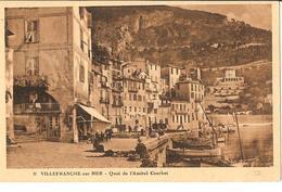VILLEFRANCHE SUR MER  - QUAI DE L'AMIRAL COURBET - Villefranche-sur-Mer