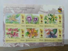 MALAYSIA 2018 MNH WILD ORCHIDS Definitive State Series MS Stamps Perf Negeri Sembilan Negri Sembila Sultan Muhriz - Malaysia (1964-...)