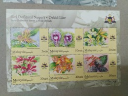 MALAYSIA 2018 MNH WILD ORCHIDS Definitive State Series MS Stamps Perf Malacca Melaka - Malaysia (1964-...)