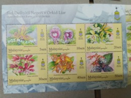 MALAYSIA 2018 MNH WILD ORCHIDS Definitive State Series MS Stamps Perf Penang - Malaysia (1964-...)