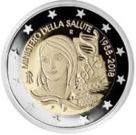 Italie  2018  2 X 2 Euro Commemo Ministerie Van Volksgezondheid - Ministère Du Santé UNC Uit De Rol  UNC Du Rouleaux !! - Italie