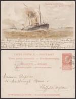 Belgique 1910- EP 10C Brun - Carte Paquebot Voyagée : Léopold II  (6G23184) DC0913 - Stamped Stationery