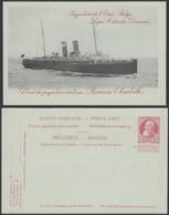 Belgique 1910- EP 10C Rouge - Carte Paquebot : Princesse Elisabeth  (6G23184) DC0915 - Stamped Stationery